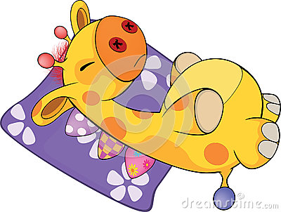 A soft toy giraffe