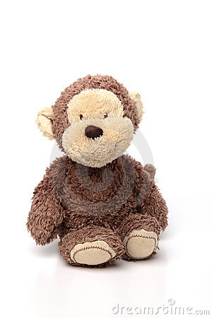 Soft Toy on White Isolated Background