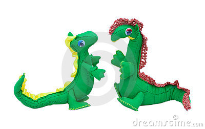 Soft toys dragons