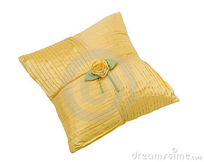 Soft yellow pillow