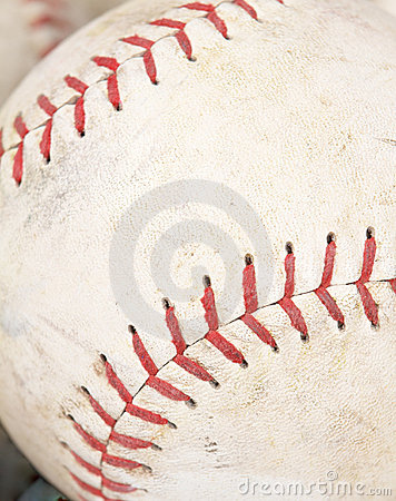 Softball close-up