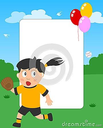 Softball Girl Photo Frame