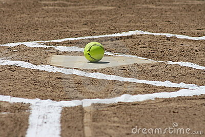 Softball at home plate