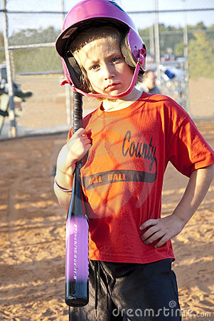 Softball Player/Young Girl