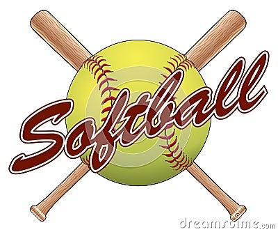 Softball Team Design Stock Vector - Image: 57380582