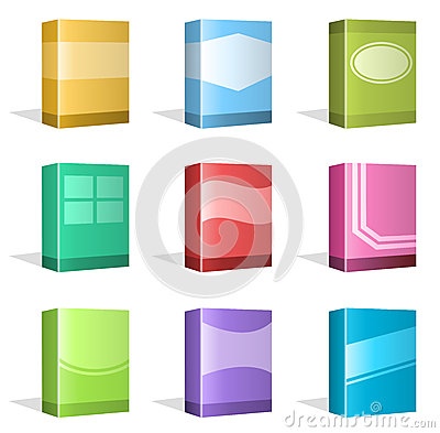 Software boxes ebook cover designs stock vector image Vector image software