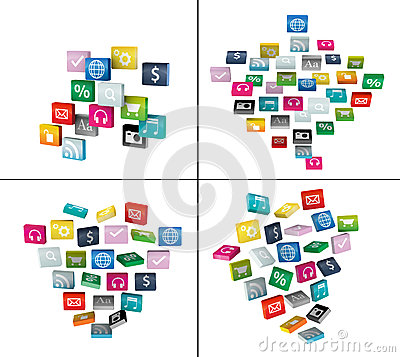 Software cloud of program icons