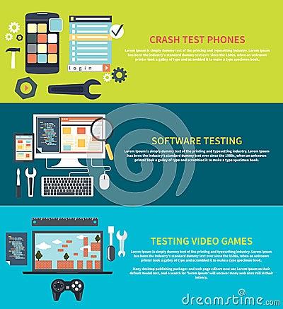 Free Software, Games, Phones Crash Testing Stock Photo - 51683550