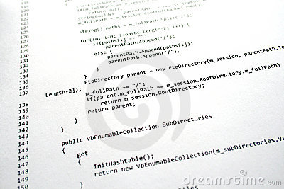 Software Program Code Stock Photo - Image: 16827880