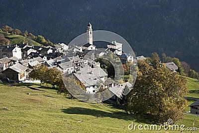 Soglio in Bregaglia region - Switzerland