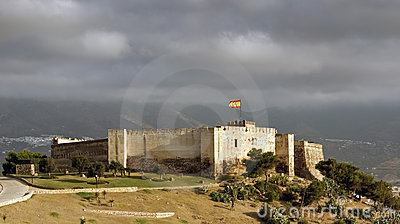 Scenic view of Sohail castle, Fuengirola - Spain