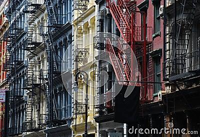 Soho, New York. Cast iron architecture