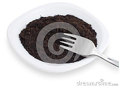 Soil on plate