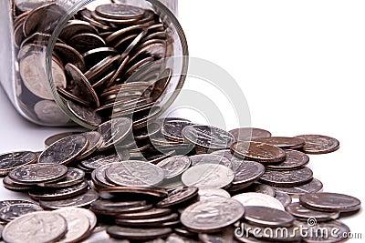 Słoju pieniądze