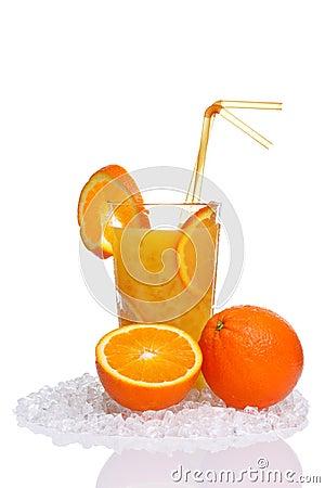 Sok świeża szklana pomarańcze