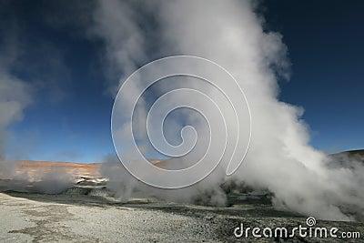 Sol de Manana geysers in Bolivian Andes