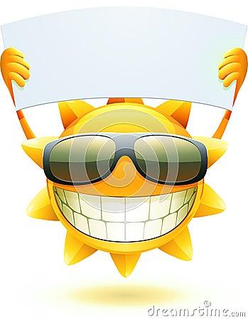 Sol feliz del verano