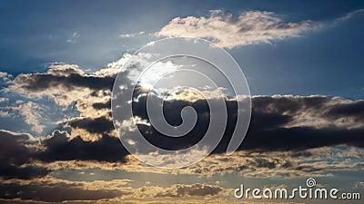 Sol och moln, Time-schackningsperiod lager videofilmer