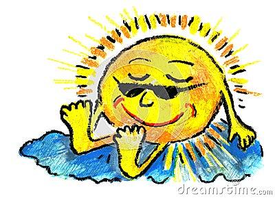 Sol y cielo y quemadura y resto