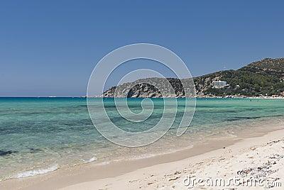 Solanas Сардинии пляжа