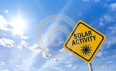 Solar activity warning sign