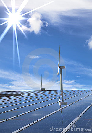Free Solar And Wind Energy Royalty Free Stock Images - 14965299