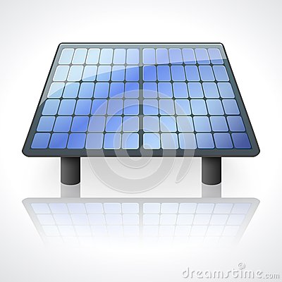Solar battery panel  on white background