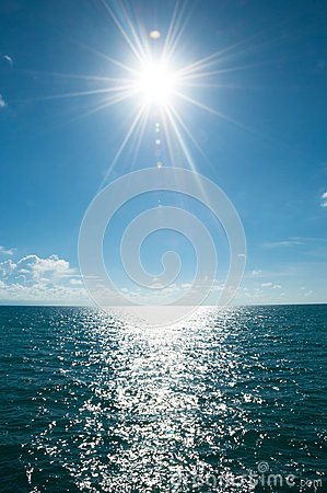 Solar beam at sea