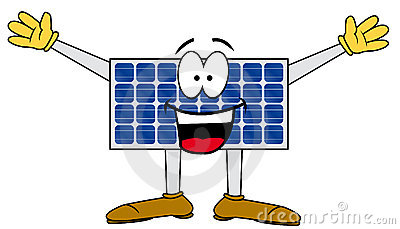 Solar cartoon panel