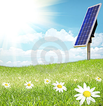 Free Solar Cell And Sunray Stock Photo - 9546800