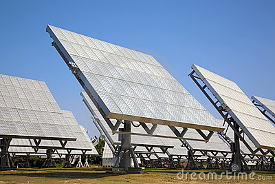 Solar cell array and power sation