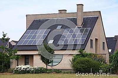 Solar cell house