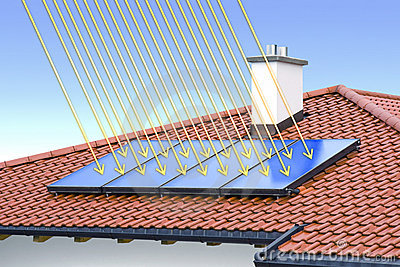 Solar cell on the roof
