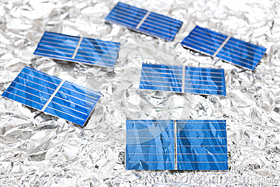 Solar cells on aluminum foil