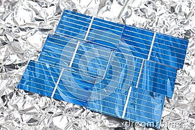 Solar cells on aluminum foil