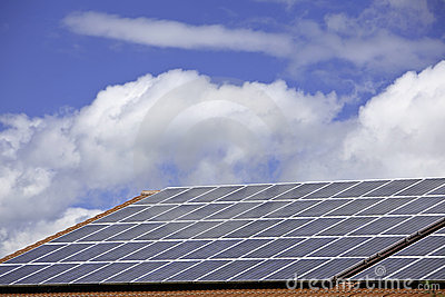 Solar cells for power production on a roof