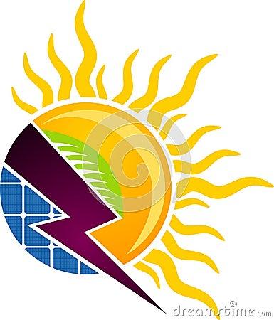 Solar concept logo
