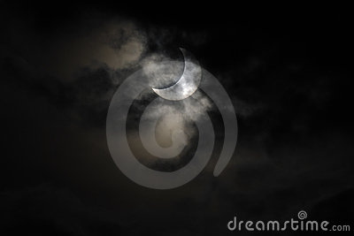 The solar eclipse of January 4, 2011 Editorial Photo