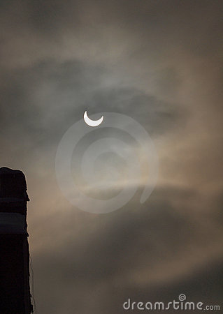 Solar Eclipse - January 4th 2011 Editorial Photography