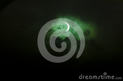 Solar eclipse over New Zealand Editorial Photography
