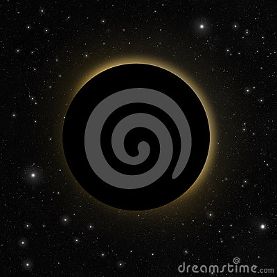 Free Solar Eclipse With Sun Glow Stock Images - 67310064