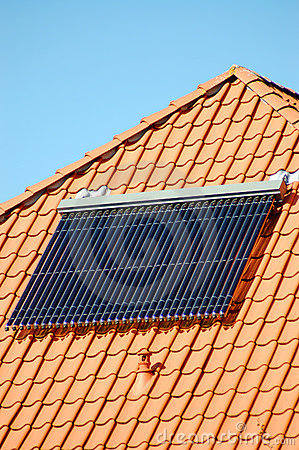 Solar energie on a roof