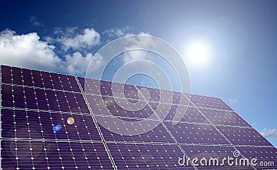 Solar energy panel in sunlight