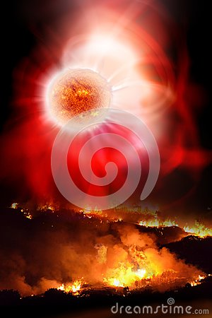 Free Solar Flare Devastation Stock Photos - 121632363