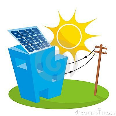 Solar House Stock Images Image 17398114