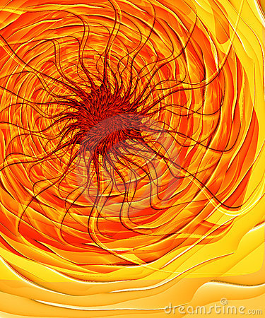 Free Solar Inferno - Fractal Image Stock Photography - 105302