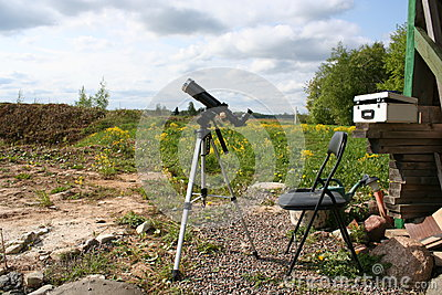 Solar observation telescope