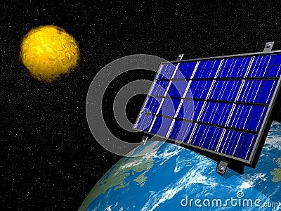 Solar panel - 3d render