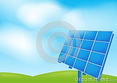 Solar panel on a blue sky