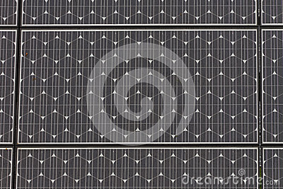 Solar panel close up with raindrops